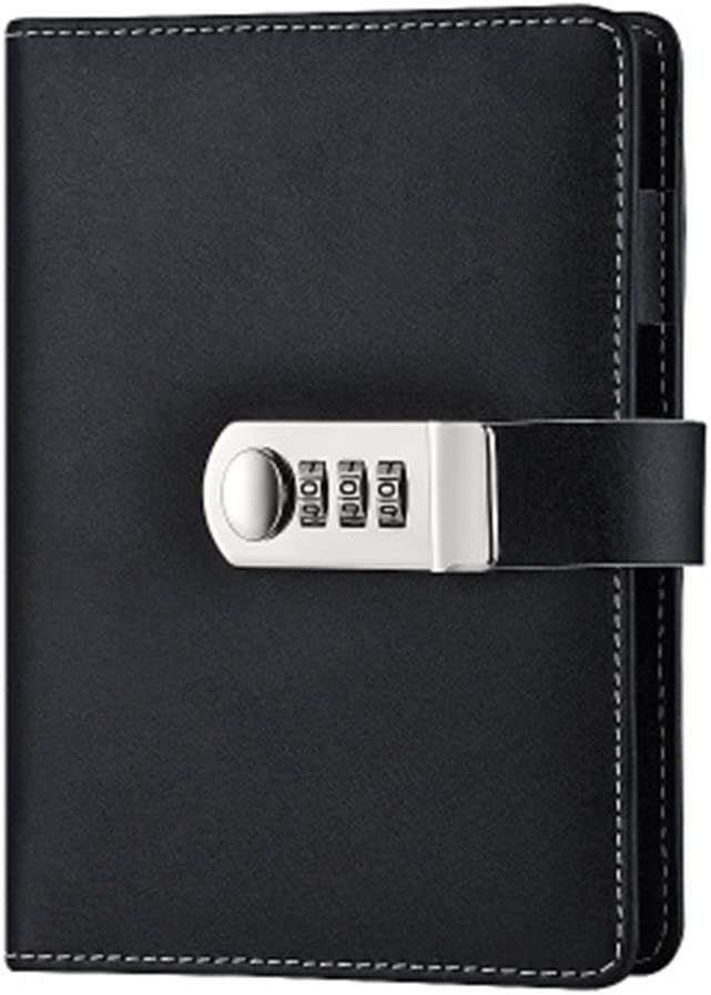 Limited price Refillable Lock Diary A6 Binder Passwo Low price Loose Leaf Spiral Journal