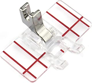 DREAMSTITCH P60620 Low Shank Parallel Stitch Presser Foot for Alphasew,Babylock,Bernette,Bernina,Brother,Consew,Husqvarna Viking,Janome (Newhome),Kenmore,Singer Most Low Shank Sewing Machine P60620