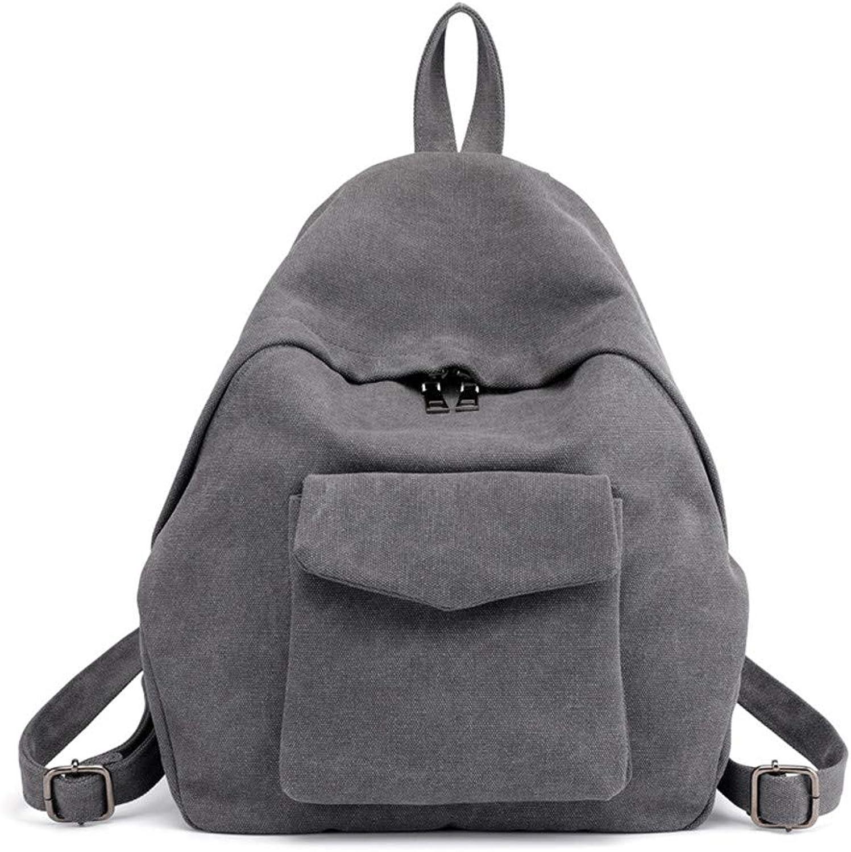 Ladies Backpack Fashion Canvas Retro Backpack Messenger Bag Ladies Handbag for Women Multiple Pockets Large Size Retro Backpack Bags Long Strap Shoulder Bag Ladies for Shopping Work Travel Waterproof