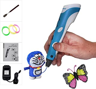 CCTREE 3D Printer Printing Pen for Kids Art & Craft Making 3D Drawing Modeling and Education with 3 Rolls Filament Refills (Blue)
