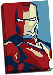 Panther Print Retro Pop Art Canvas Iron Man Print Poster 30X20 Inches A1