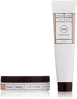 Frank Body Original Lip Duo Kit | Exfoliating Sugar Lip Scrub and Multipurpose Lip Balm | Plumping Lip Exfoliator, Smoothe...
