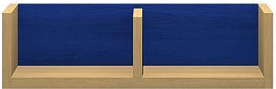 パモウナ(Pamouna) ラック 本体:ホワイトオーク/バックボード:ブルー 横幅:60・奥行17・高さ17.6cm