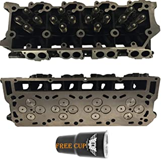 2 x NEW Improved 6.0 Ford Powerstroke Diesel LOADED Cylinder Head PAIR 03-07 No Core (20MM)