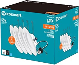 EcoSmart 6 in. Soft White Integrated LED Recessed Trim (4-Pack)