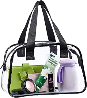 Eland Clear Tote Bag Stadium Approved, Mini Clear Purse for Gym, Work, Travel or Concert