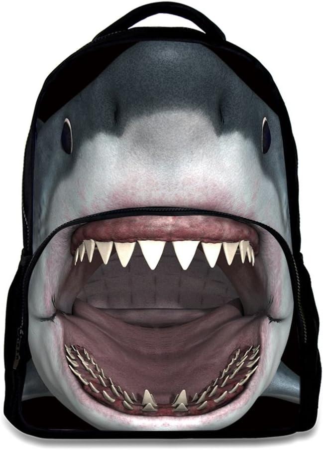 Backpack Kids 5% OFF Outlet ☆ Free Shipping Boys Girls Bookbag Animal Shou Design Shark Black