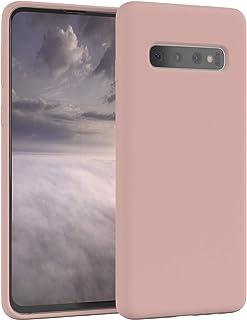 EAZY CASE Premium Silikon Handyhülle kompatibel mit Samsung Galaxy S10, Slimcover mit Kameraschutz und Innenfutter, Silikonhülle, Schutzhülle, Bumper, Handy Case, Hülle, Softcase, Rosa Braun