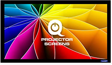 QualGear 120-Inch Fixed Frame Projector Screen, 16: 9 High Contrast Gray at 0.9 Gain (Qg-PS-Ff6-169-120-G)