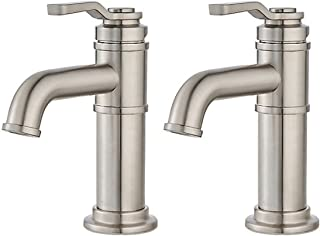 Price Pfister Breckenridge Single Control, Centerset Bath Faucet, Brushed Nickel, 2-Pack
