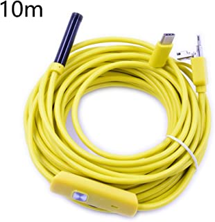 Steellwingsf 6 LED 7mm lente endoscopio impermeable inspección borescopio cámara para Android amarillo amarillo 10 m