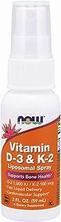 NOW Supplements, Vitamin D-3 & K-2 Liposomal Spray 1,000 IU/100 mcg, Supports Bone Health*, 2-Ounce