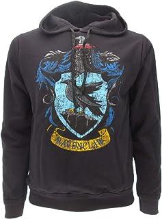 Harry Potter Sweat A Capuche Hoodie Blason SERDAIGLE Maison Ravenclaw - 100% Officiel Warner Bros (XS (10-14 Ans))