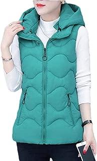 Women's Down Coat Vest Sleeveless Solid Jackets Outerwear Overcoat