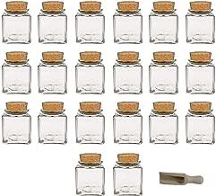 Runningfish Set di 5 Bottiglie di condimento per Utensili da Cucina per portabottiglie di Pepe con cremagliera di Legno per la conservazione dellaceto di Pepe Olio