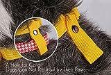 ubest Hund Maulkorb mit Klettverschluss, Gepolstert und Einstellbar Nylon, für meistens Hunde, Größe M, Schwarz - 3
