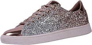 Femme Baskets Mode Paillette LéGer Respirante Pas Cher Tendance Soldes Sneakers Basses Chaussures De Nightclub