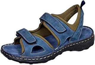 MARDI GRAS Youth Blue Leather Outdoor Sandals