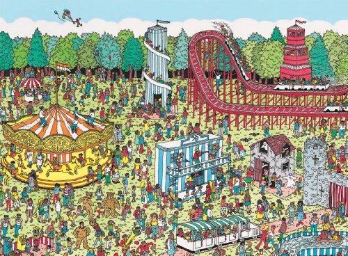 Nathan - 87114 - Puzzle - A la Fête Foraine / Où est Charlie - 500 pièces