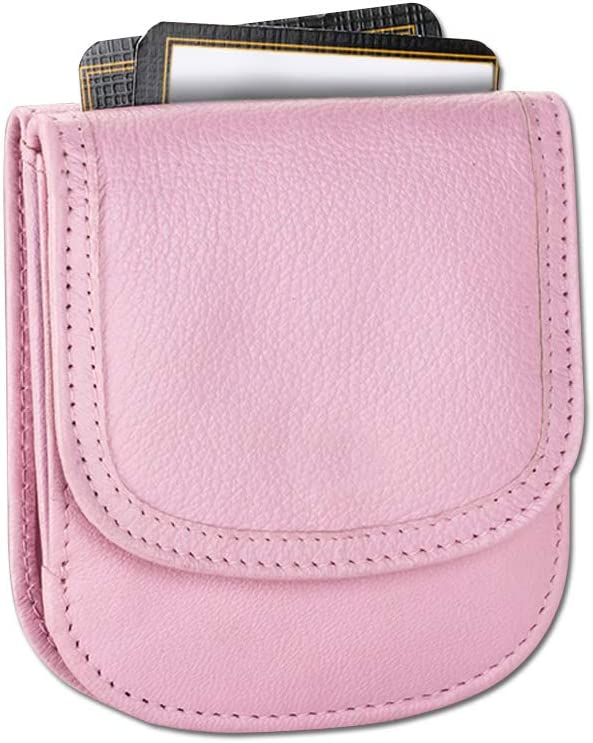 Taxi Wallet - Soft Leather, Ballet Slipper Pink – A Simple, Compact, Front Pocket, Folding Wallet, that holds Cards, Coins, Bills, ID – for Men & Women