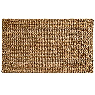 PLUS Haven Jute Doormat - Size: 17-Inches x 30-Inches - Pile Height: 1-Inch - Perfect Color/Sizing for Outdoor/Indoor'