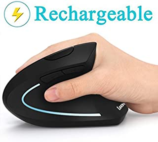 Ergonomic Mouse, Vertical Wireless Mouse – LEKVEY Rechargeable 2.4GHz Optical..