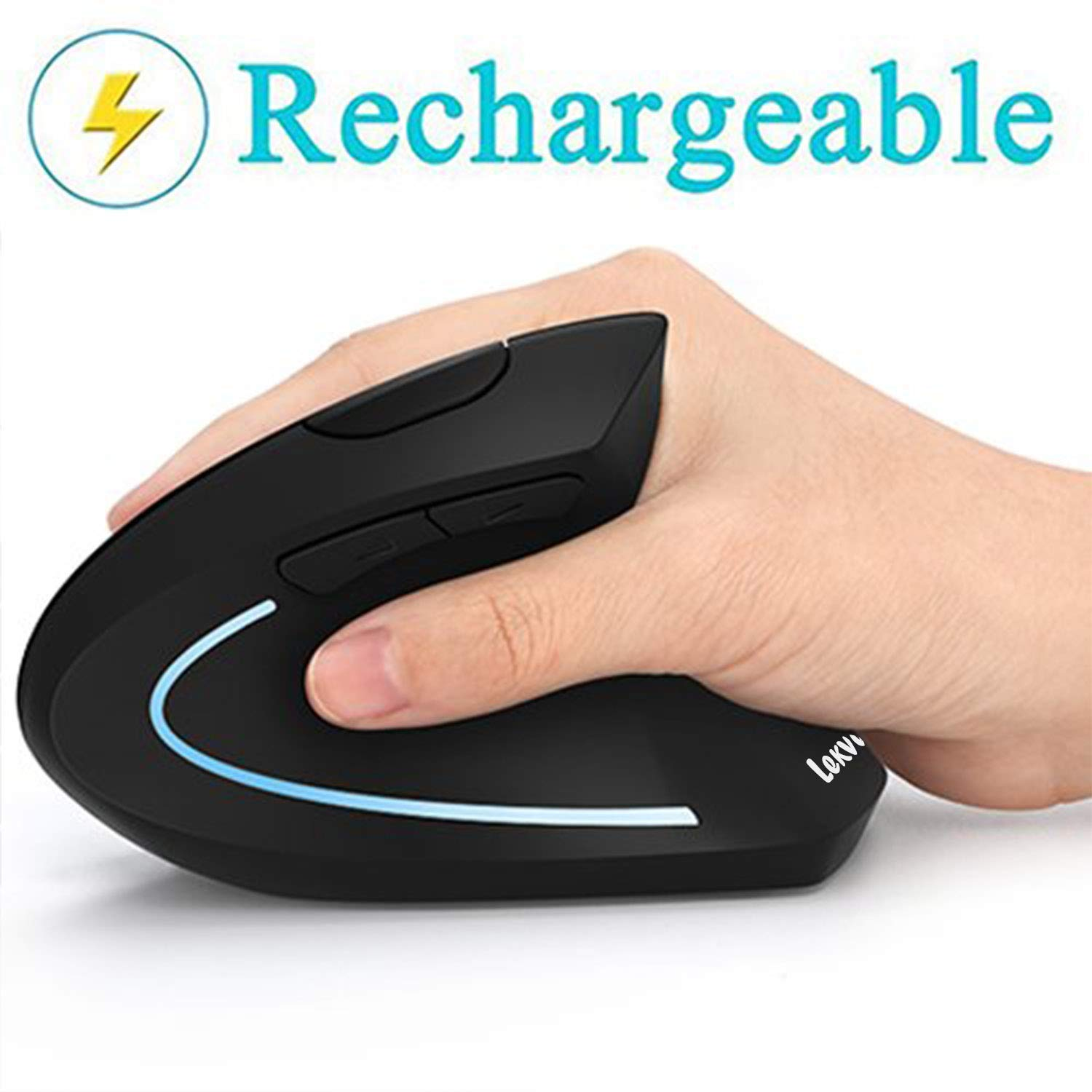 Ergonomic Mouse Vertical Wireless Rechargeable