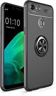 Yhuisen Shockproof Anti-Scratch Drop Soft TPU Slim Protection Case with 360 Degree Rotating Finger Ring Holder for OPPO F5/F5 Youth/A73 (Color : Black)