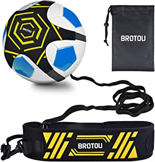 Football Trainer Banda, Football Solo Kick Trainer Elástica para Entrenamiento de Fútbol Soccer Skill Trainer Kit for Niños Adultos (Negro # 2)