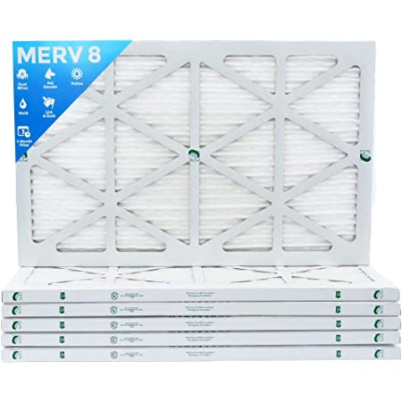 16x18x1 Merv 11 Pleated AC Furnace Filter Case of 6
