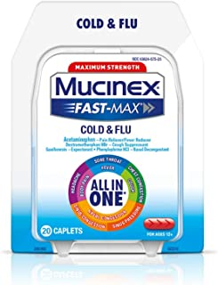 Mucinex Fast-Max Severe Cold Caplets, 20ct