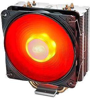 DeepCool Gammaxx 400 V2 Disipador de refrigeración 4 Heatpipes con ventilador LED rojo PWM silencioso de 120 mm para CPU Socket Intel 1155 1151 1150 1366 y AMD AM4 AM3 AM2 AM3+ FM1 FM2 FM2+