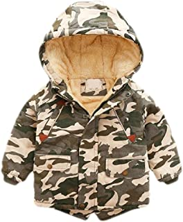 Macondoo Mens Trendy Cotton Padded Hooded Puffer Fleece Parkas Jacket