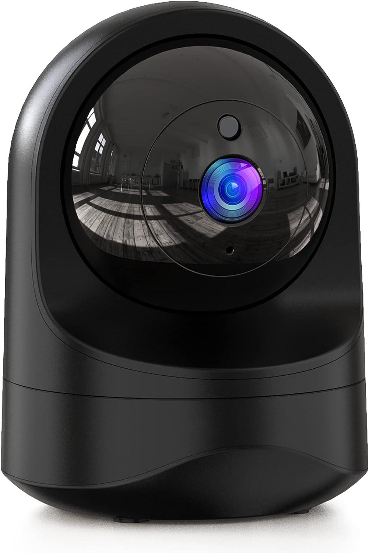 1080P Camara Vigilancia WiFi Interior, Cámara IP WiFi con 10s vídeo App Alerta, Visión Nocturna, Detección de Movimiento, Audio de 2 Vías, Camaras de vigilancia WiFi Bebé/Mascota,Trabajo con Alexa