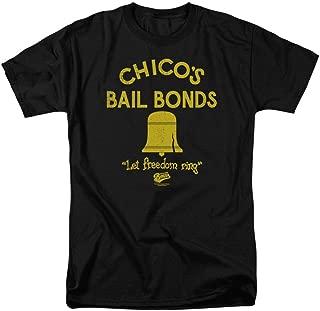 Bad News Bears Chico's Bail Bonds Black Mens T-shirt