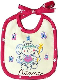 Babero personalizado para bebe hada mariposa