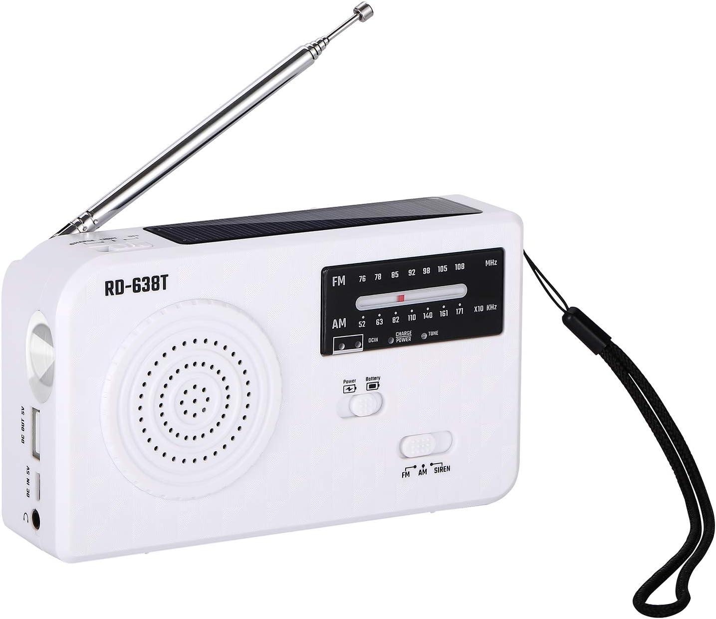 Solar Flashlight Radio Portable Fixed price for sale Emergency New sales Hand Powere Self Crank