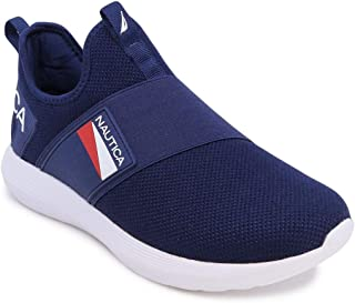 Nautica Men's Casual Fashion Sneakers-Walking Shoes-Lightweight Joggers-Steeper 4-Navy-7.5