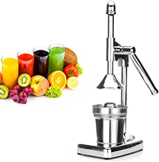 Manual Citrus Juicer, Portable Stainless Steel Hand Press Orange Lemon Limes Drink Lever Squeezer Fruit Grapefruits Juice Extractor for Home Kitchen Commercial Use - US Shipping