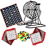 The Magic Toy Shop Deluxe Bingo Lotto Traditional Family Party Game Play Set Metal Cage