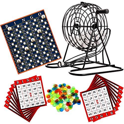 Metall Bingo Tombola Partyspiel Gesellschaftsspiel Bingomühle Bingokarten Karten