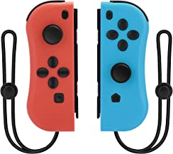 Linkstyle Wireless Controllers Compatible with Nintendo Switch, L/R Joy Pad with Wrist Strap, Bluetooth Switch Remotes, Video Game Controllers Pair for Nintento Switch (Red and Blue)