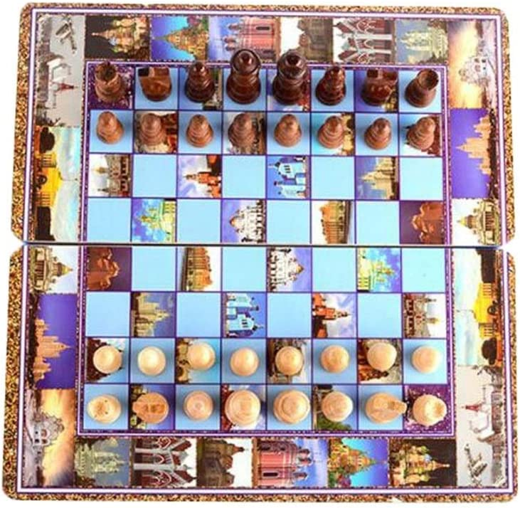 Toys Cash special price Games Chess 3 in 1 Folding Max 88% OFF Wood Board Wooden Solid