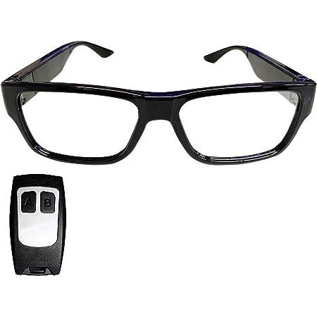 匠ブランド 小型カメラ メガネ型 隠しカメラ レンズ見えない アクションカメラ ウエアラブルカメラ タッチ操作 オート録画 リモコン操作 眼鏡型 防犯 ビデオ カメラ 『Assassin』(アサシン)