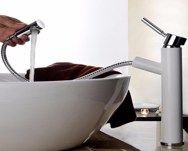 Fy.Zck Wasserhahn Zapfhahn Mischbatterie Armatur Waschtisch Armatur, Pull-Out, Heie Und Kalte Kupfer Waschbecken Mixer, B