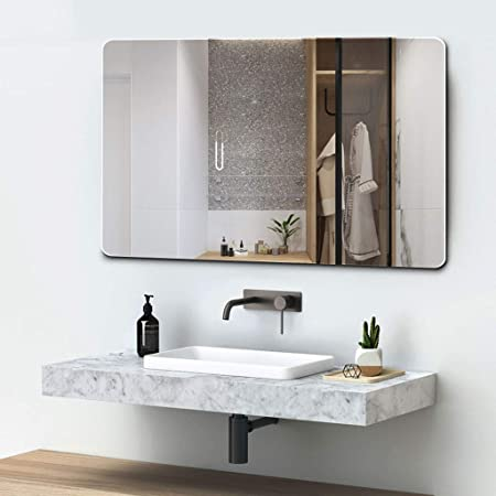 Quality Glass Frameless Wall Mirror (Glass_Silver_18 X 24 Inch)