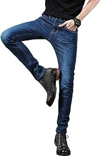 Heren Stretch Rechte Pijpen Regular Fit Klassieke Basic Denim Jeans, Lente- en Zomermode Halfhoge Slim-fit Retro Losse Jeans