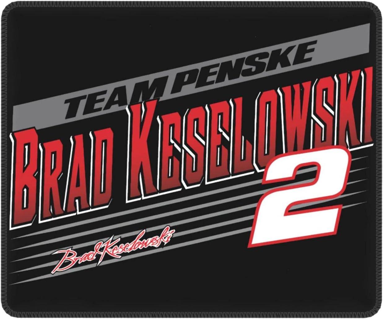 5 popular New sales Brad Keselowski Mouse Pad with Rubber Base Premium-Tex Non-Slip