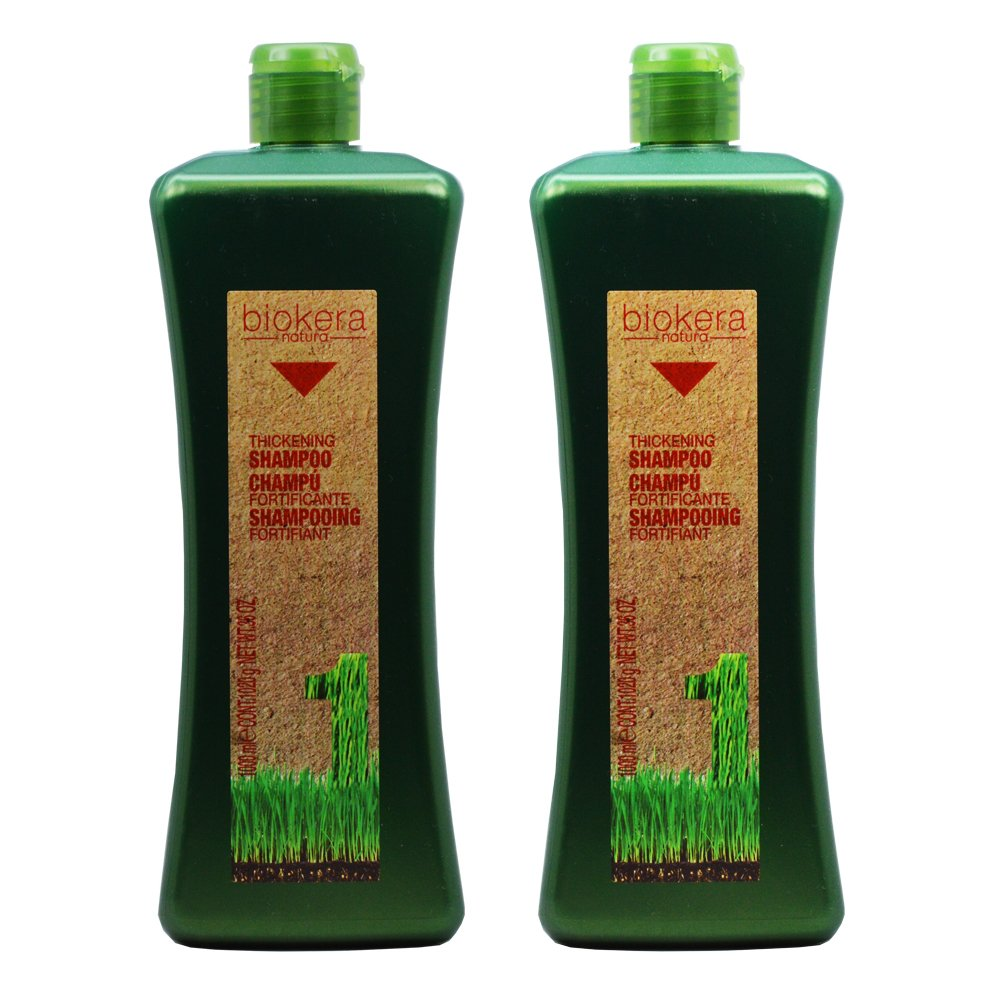"Salerm Biokera Natura Thickening Shampoo 36oz / 1000mL""Pack of 2"""