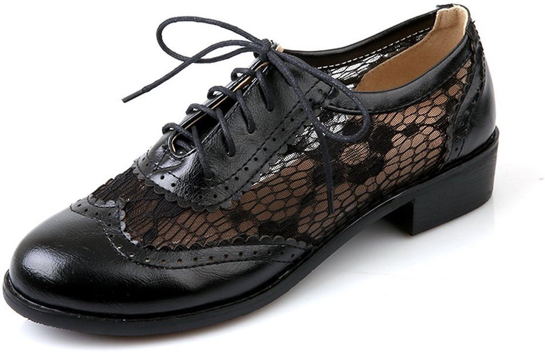 BalaMasa Ladies Fisherman Lace-up Imitated Leather Pumps-shoes